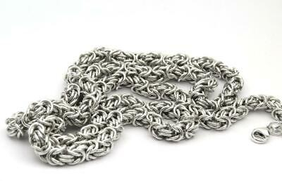 NEW! 30 Inch Heavy Solid Silver Byzantine Chain Handmade UK Hallmarked Free p&p