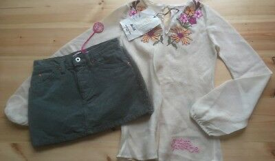 Girls Outfit Age 10 Skirt And Blouse Nolita NEW 👍 SUMMER BEACH HOLIDAY