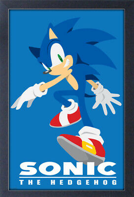 SONIC THE HEDGEHOG MODERN CHARACTER 13x19 FRAMED GELCOAT POSTER VIDEO GAMES SEGA