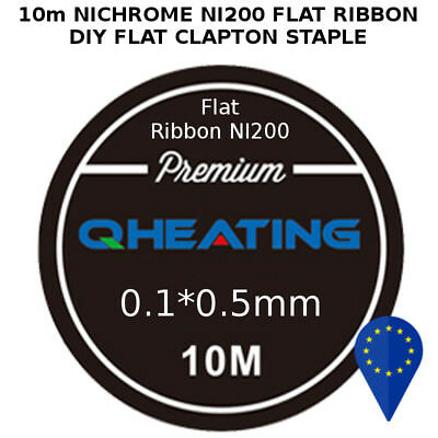 10m NI200 FLAT RIBBON 01x05mm WIRE RESISTENZA PIATTA 30ft CLAPTON MAKER NICHROME
