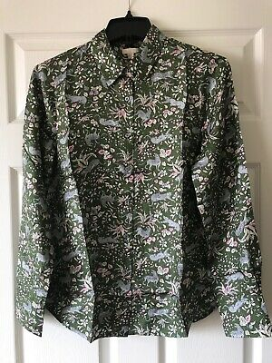 2827a840481b24 NWT J. Crew Collection Fall 2018 Womens Silk Twill Jungle Cat Print Shirt S  6