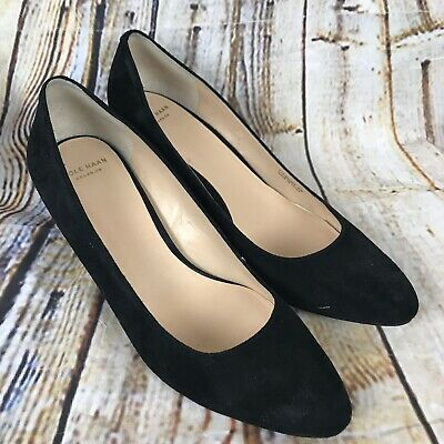 74ad16dfdcd COLE HAAN GRAND OS Pump Suede Black Heel Women's Size 8.5 B