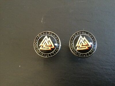New Viking VALKNUT Logo CUFFLINKS New Nordic Norse Viking Rune