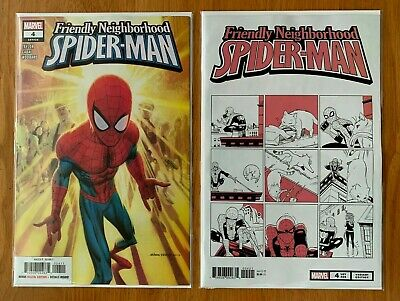 FRIENDLY NEIGHBORHOOD SPIDER-MAN #4 Robinson Main + Fuji Cat Variant 2019 NM