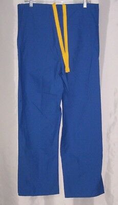 63b9043f8df Medline Angelstat Unisex Blue Drawstring Reversible Medical Scrub Pants  Size XS