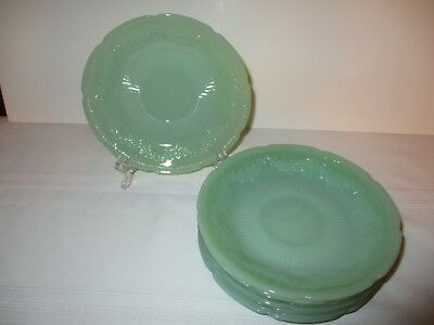 "FIRE KING JADEITE ""ALICE"" SAUCER~FLORAL DESIGN 1940s~8 AVAIL.~THIS SALE FOR ONE"