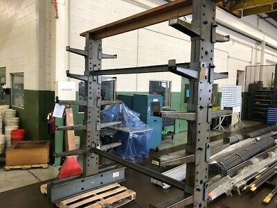 """Industrial Steel Shelving. 8' tall x 6'8"""" long. Extremely heavy duty."""