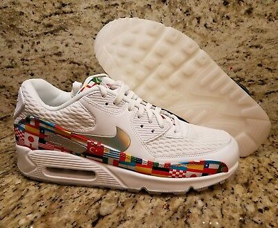 competitive price 63ee4 bb226 Nike Air Max 90 NIC QS International Flag Pack Mens SZ 10.5 White AO5119-100