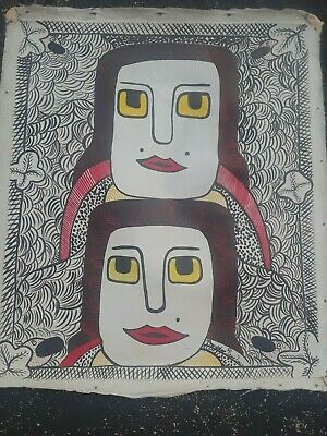 """Wonderful Painting By Haitian Prodigy  Prospere P.louis  20""""x24""""   Very Rare"""