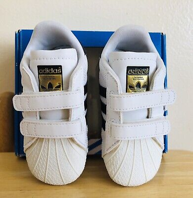 8e793ac3b955 ADIDAS SUPERSTAR 2 Crib Baby Trainers Crawl Shoes White Rose Pink Sz ...