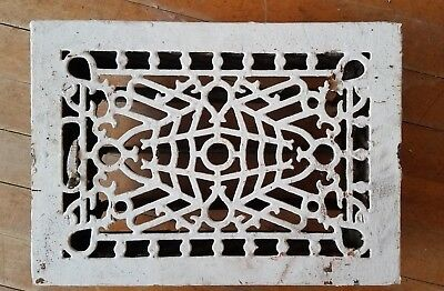 Vintage Cast Iron Heat Grate with Working Louver