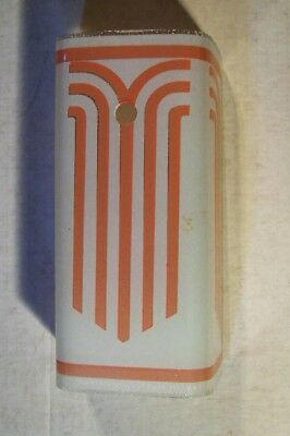 NOS Art Deco Pink Glass Bathroom One Bulb Light Fixture Wall Sconce Shade Only