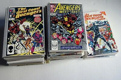 WEST COAST AVENGERS #1-102 & annuals #1-8 (higher grade complete 110 issue set!)
