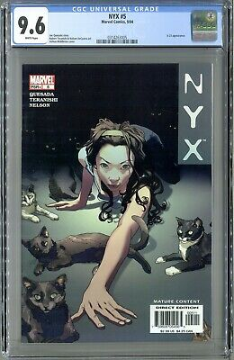 Marvel CGC 9.2 White Pages 1st Appearance Tatiana NYX #4 2004