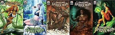 Amazing Spider-Man 17 18 19 20 21 Mike Mayhew Lucio Parrillo Variant 5-Pk Hunted