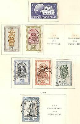 Belgian Congo small selection in MH/used condition
