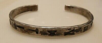 Antique Navajo Indian Trade Sterling Silver 31g hallmarked/dated Cuff Bracelet