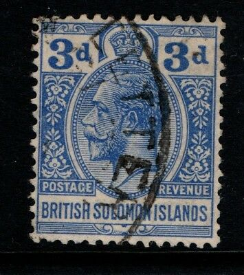 British Solomon Islands 1922 3d King George V SG44 Used