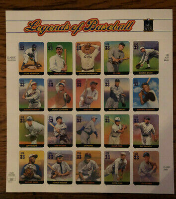 Stamps USPS Scott 3408 Sheet MNH 2000 Legends Of Baseball STARTS BELOW FACE $!