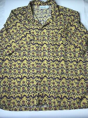 33dfd6d5 Vintage PATAGONIA Tiki Tribal Made in Jamaica Men's S/S Button Down Shirt  Sz Lg