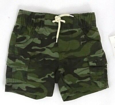 New Baby Gap Boys Pull on shorts Cargo Military Camo Green 6-12 Months Cotton