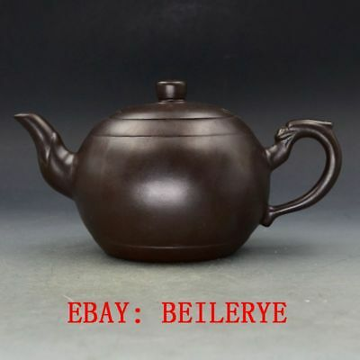 Chinese Yixing Zisha Hand-carved Dragon Shape Teapot BY34