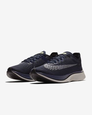56e09d55fa75 NEW Nike Zoom Vaporfly 4% Obsidian Silver Unisex Shoes-Size Men s 6.5