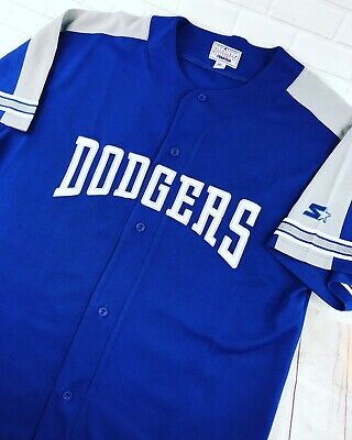 21adbb7ff VTG 90s XL Starter Los Angeles Dodgers Sewn Jersey Blue Gray Polyester  Shirt LA