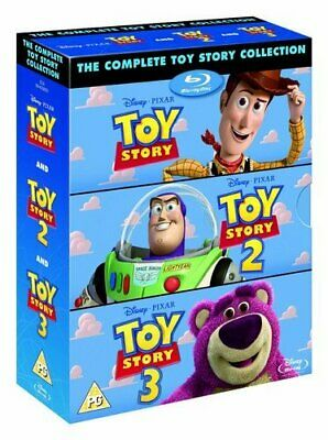 Toy Story Trilogy 1+2+3 Film Collection Blu-ray Boxset New Region Free A,B,C!