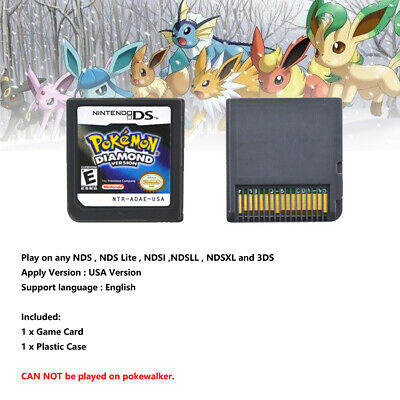 Hot Lite Pokemon Game Card Diamond For Nintendo DS 3DS NDSI NDSL NDS