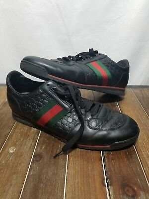 beafa1fd2a3 GUCCI SL 73 Black Leather Sneakers Men s Shoes Size US 8 -  275.00 ...