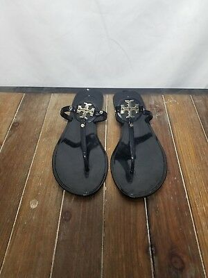 845c440d3 NEW!      225 TORY Burch  leighanne  Thong Sandals Black Bow Shoe ...