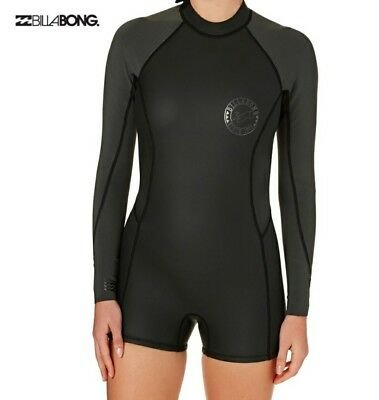 c324c485949a BILLABONG WOMEN'S SPRING Fever Long Sleeve One Piece Swimsuit, Black ...