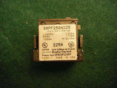 General Electric GE SRPF250A225 Circuit Breaker Rating Plug 225A Spectre RMS