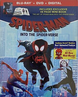 SPIDER-MAN ~ INTO THE SPIDER-VERSE ~Blu-Ray + DVD + Digital < 48-PG MINI BOOK >