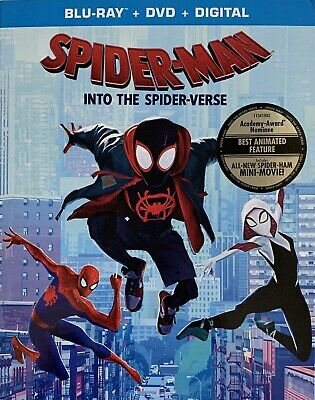 SPIDER-MAN ~ INTO THE SPIDER-VERSE ~ Blu-Ray + DVD + Digital *New *Sealed