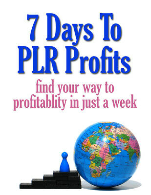 7 Days to PLR Profits PDF eBook With Resale Rights
