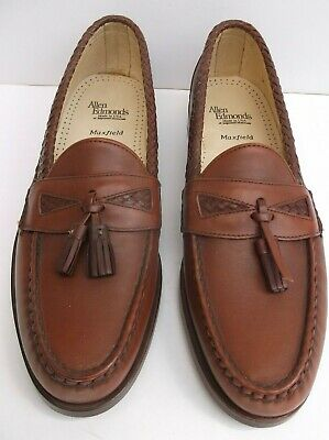 a044ae7fcc5e7 ALLEN EDMONDS MAXFIELD Brown Tassel Slip-On Loafer Shoes 12 AAA NEW AS IS