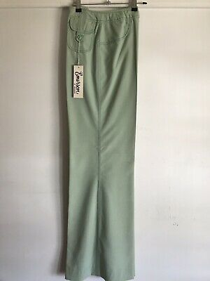 Vtg 70s EMERSON Sz 10 Mint Green Pants With Buckled Pockets