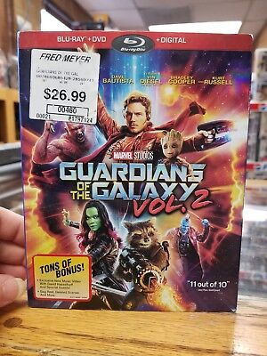 Guardians of the galaxy Vol.2 Blue ray & digital code (dvd not included) slipcov