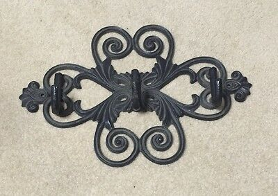 Vintage Victorian Ornate Style Heavy Cast Iron towel Hat Key Coat Jewelry Hooks