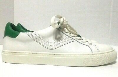 b529fe0bc8a0 Tory Burch Sport Chevron Fashion Sneakers Lace Up White Leather Womens Size  8.5