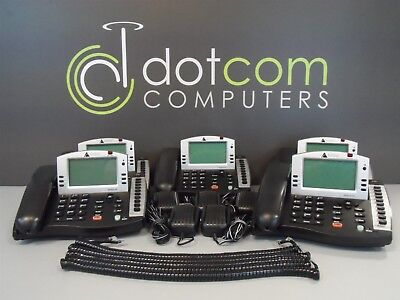 Altigen AltiTouch 510 AT510 AT-510 Office Display Phone W/ Power Supply Lot of 5