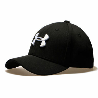 New Under Armour Branded Baseball Cap Men//Women fitted cap Dad Hat Blue M//L