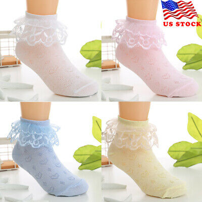 2-8 year old New Nice Kid Toddlers Girls lovely Lace desig short socks US