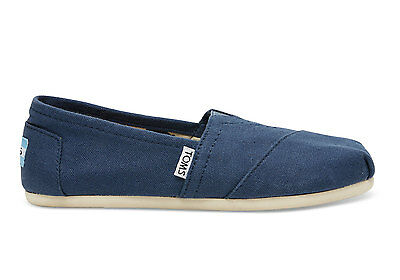 Toms Classics Loafers Shoes Navy Canvas Slip On Mens Size 9.5