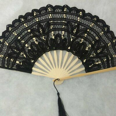 Creative Gift Lace Hand Fan Bamboo Chinese Wedding Favors Silk Vintage Foldin(S