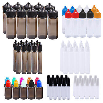 15ml 30ml 50ml 120ml Dropper Empty Bottle with Child Resistant Cap Small Funnel