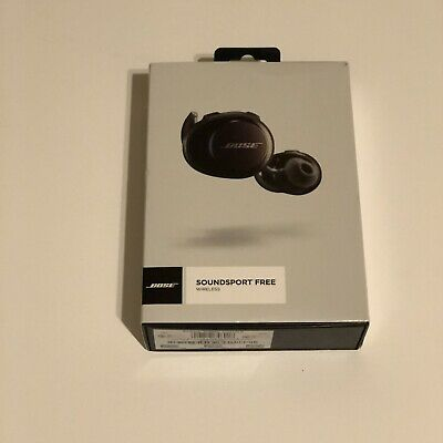 Bose SoundSport Free Bluetooth Wireless In-Ear Headphones Earbuds - Black