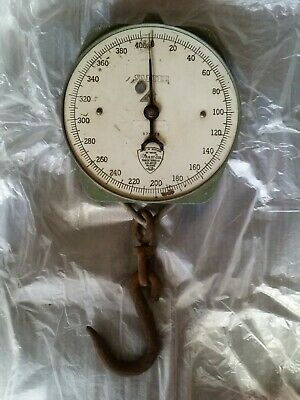Vintage 400Lb Salter Butcher Scales No. 235 Made In England Working